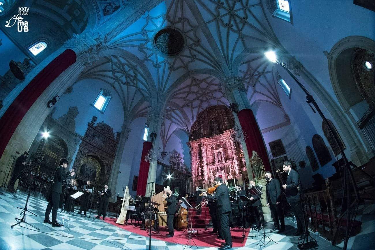 Concierto en la Catedral de Baeza, en el marco del FeMAUB 2020